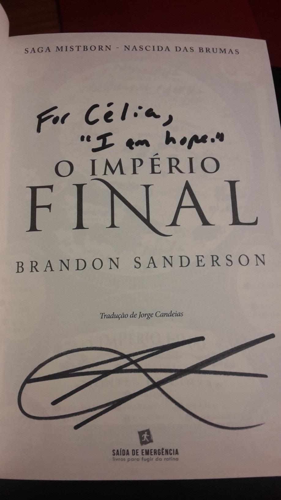 Brandon Sanderson Portugal